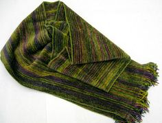 Items similar to Handwoven Chenille Scarf/Mossy Greens and Golds on Etsy Inkle Loom, Scarf Styles, Green And Gold, Scarf Wrap, Weave, Scarves, Hand Weaving, Textiles, Quilts