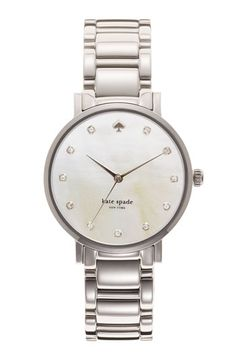 kate spade new york 'gramercy' crystal marker watch available at #Nordstrom