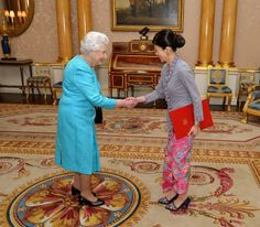 The Queen receives Ms Foo Chi Hsia