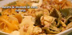 Receta de ensalada de pasta  con atún