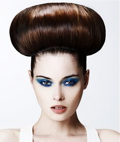 Simple but incredibly Dramatic updo Hairstyle by En Route. Let us inspire you more at  Www.ukhairdressers.com