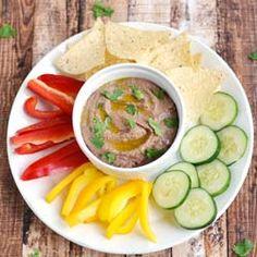 Black Bean Hummus HealthyAperture.com