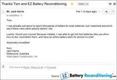 Recondition Your Old Batteries Back To 100% Of Their Working Condition — EZ Battery Reconditioning