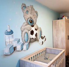 Baby Boy Rooms, Baby Room, Baby Zimmer, Tatty Teddy, Baby Boy Shower, Wall Murals, Kids Room, Toddler Bed, Nursery