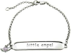 "Baby and Children's Bracelets:  Sterling Silver ""Little Angel"" ID Charm Bracelet $37.50"