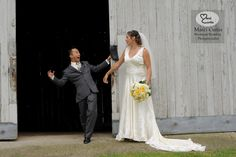 """A bride gets pranked by a groomsman during their """"First Look"""" in Troy, Michigan. Photo by Marci Curtis - Michigan Wedding Photojournalist."""