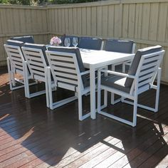 Manly 9-Piece Outdoor Dining Set by Sunlong Australia   Zanui