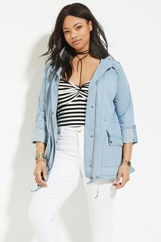 8370f869642 from Forever 21 · Plus Size Chambray Jacket