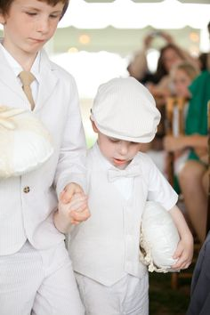 Ring bearer outfits. Love the hat!