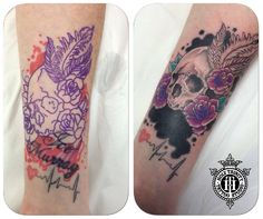 Another great cover up tattooed in the studio by Greg