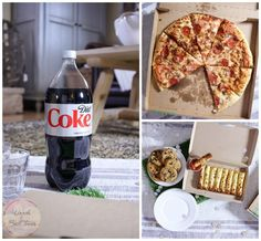 Game night is simple with the Coca-Cola Family Pizza Combo from Sam's Club Cafe! Kick your football party table up a notch with these super easy turf place mats! [ad] #FamilyPizzaCombo @cocacola @samsclub