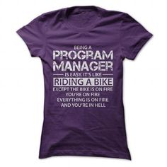 Being a Program Manager Its Like Riding A Bike - #gift for girls #couple gift. MORE ITEMS => https://www.sunfrog.com/LifeStyle/Being-a-Program-Manager-Its-Like-Riding-A-Bike-Purple-Ladies.html?68278