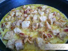 Pollo al curry con bacon | Recetas de Isabel
