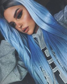 Blue Wigs Lace Hair Lace Frontal Wigs Midnight Blue Hair Color Twist W – datestal Blue Wig, Hair Color Blue, Cool Hair Color, Hair Colors, Periwinkle Hair, Pastel Blue Hair, Frontal Hairstyles, Wig Hairstyles, Midnight Blue Hair