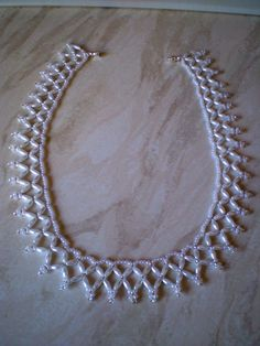 Rice Bead necklace made from a Stenboden Pattern. Craft Kits, Craft Supplies, Jewelry Patterns, Bead Crafts, Beading, Wax, Rice, Beaded Necklace, Crafting