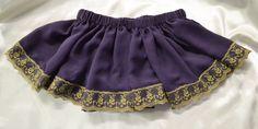 Purple chiffon tutu skirt