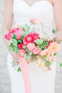Points You Should Know Prior To Obtaining Bouquets Bright Pink And Blush Bouquet Bright and Beautiful Wedding Inspo At The Brickyard In Marietta, Georgia - Bride In Love Lives Here Bridal - Handmade Satin Wedding Gown Modern Wedding Flowers, Blush Wedding Flowers, Wedding Flower Inspiration, Flower Bouquet Wedding, Floral Wedding, Wedding Ideas, Wedding Advice, Wedding Fun, Wedding Planning
