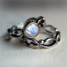 Moonstone engagement ring, stirling silver engagement ring, alternative engagement rings, hand made engagement rings, wedding rings