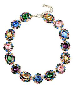 Look what I found on #zulily! Crystal Color Collar Statement Necklace #zulilyfinds