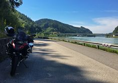 By the Danube river, dividing Upper & Lower Austrua Motorcycle Adventure, Danube River, Slovenia, Czech Republic, Denmark, Austria, Germany, Italy, Summer