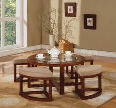 Patia 5 PC Coffee Table and Ottomans Set (Coffee Table and 4 Ottomans)
