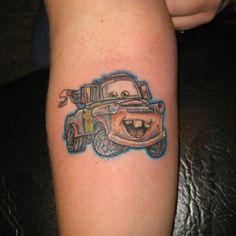 Tow mater Tow Mater, Beautiful Tattoos, Tattoos For Guys, Tatting, Disney, Ink, Rats, Sally, Tattoo Ideas