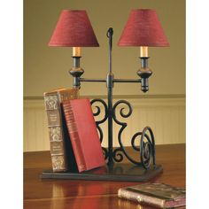 """Book End Lamps 17"""" - Country Village Shoppe"""
