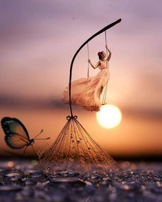 30 Fabulous Girl Sunset Photography Ideas To Steal - Feminine Buzz Cool Pictures For Wallpaper, Cute Wallpaper Backgrounds, Cute Cartoon Wallpapers, Pretty Wallpapers, Cute Pictures For Dp, Wallpaper For Girls, Miniature Photography, Cute Photography, Fantasy Photography