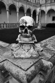 "rhubarbes: "" Certosa di San Martino, Naples, Italy, 2011 by Oystein Lagerstrom. (par More skulls here. Memento Mori, Claude Monet, Vincent Van Gogh, Photo Awards, Gothic Architecture, Grand Tour, Skull And Bones, Skull Art, Historical Sites"