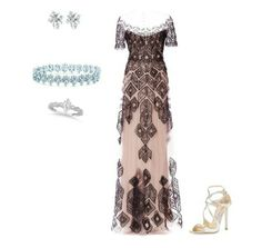 Romantic and modern couture look