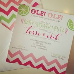 Pink and green lime themed baby shower | Nico and Lala