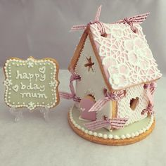 Gingerbread House with plaque cookie | Cookie Connection