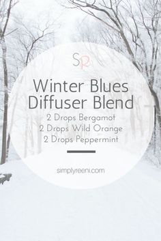 Winter Blues Diffuser Blend to use with essential oils! Sometimes during the winter we need some uplifting. This diffuser blend helps support our bodies during the winter months✨ Simply living your best life naturally. Essential Oil Diffuser Blends, Doterra Essential Oils, Young Living Essential Oils, Doterra Diffuser, Bergamot Essential Oil, Natural Essential Oils, Natural Oils, Design Facebook, Diffuser Recipes
