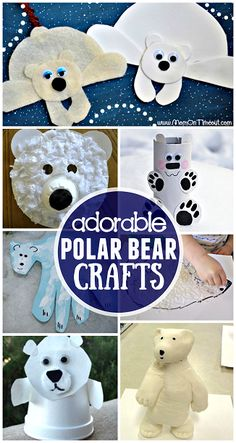Winter Polar Bear Crafts for Kids to Make - Crafty Morning Most Popular Teaching Resources: Winter P Winter Crafts For Kids, Winter Kids, Crafts For Kids To Make, Projects For Kids, Kids Crafts, Art For Kids, Art Projects, Daycare Crafts, Classroom Crafts