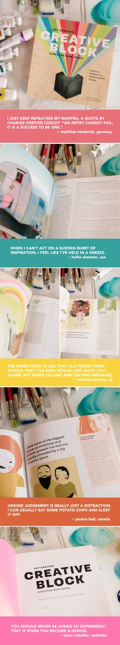 The Jealous Curator (seriously, follow her on Pinterest!) has an adorable book out full of artistic advice.