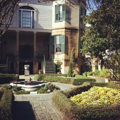 Owens-Thomas House courtyard garden