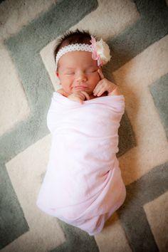 Newborn Photography: baby girl & chevron, austin -- tx