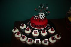 Graffiti Cake and cup cakes