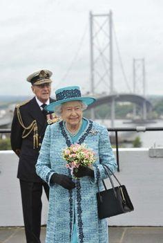 Queen Elizabeth II and Prince Philip, Duke of Edinburgh visit Forth Road Bridge, 04.07.2014 in Edinburgh, Scotland