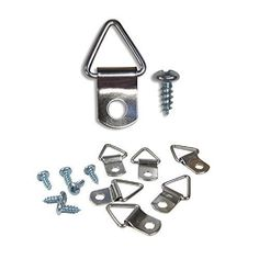 100 Pack Triangle Ring Hanger Support w/ Screws Picture Canvas Wood Frame New #PictureHangSolutions