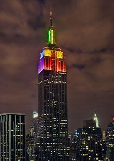 Empire State Building, 34th St Midtown: Lights change colors each night. Check their website to see what the colors represent tonight! http://www.esbnyc.com/
