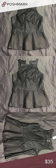 Express minus the leather peplum top New with tags! Express Tops Blouses