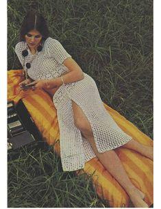 Crochet Pattern Vintage 70s Crochet Top Pattern and Crochet