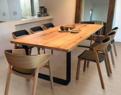 KING Dining Table loop legs with rounded corners 8 Seater Dining Table, Timber Dining Table, Dining Table Design, Modern Dining Table, Dining Table Chairs, Dining Furniture, Timber Furniture, Mesa Exterior, Dinner Room