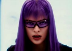 Milla Jovovich With Purple Hair In The Movie Ultraviolet