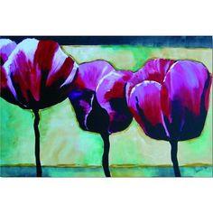 AWX0091 schilderij tulpen paars 100x150