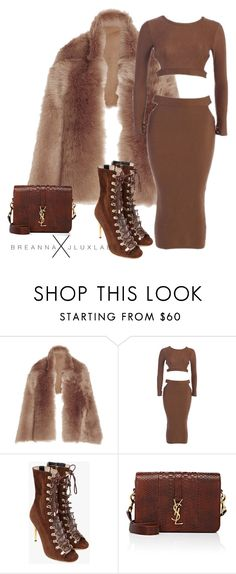 """""""Untitled #2"""" by styledbybreanna ❤ liked on Polyvore featuring Rochas, Balmain and Yves Saint Laurent"""