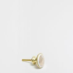 Image 1 of the product Ceramic and golden metal knob (set of 2)