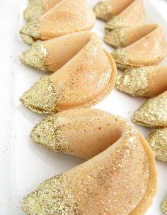 Fortune cookies dorés
