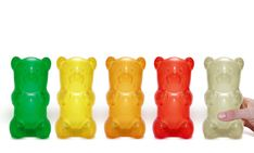 Gummylamps, Portable Nightlights in the Shape of Giant Gummy Bears by Jail Break Collective.